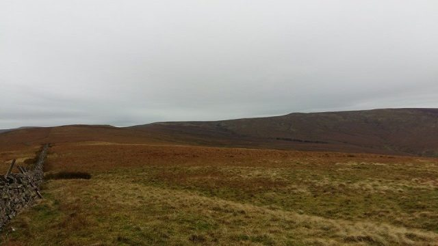 Black Fell (on the right), at 664m the highest Pennine height north of Hartside - looking back from Benty Hill