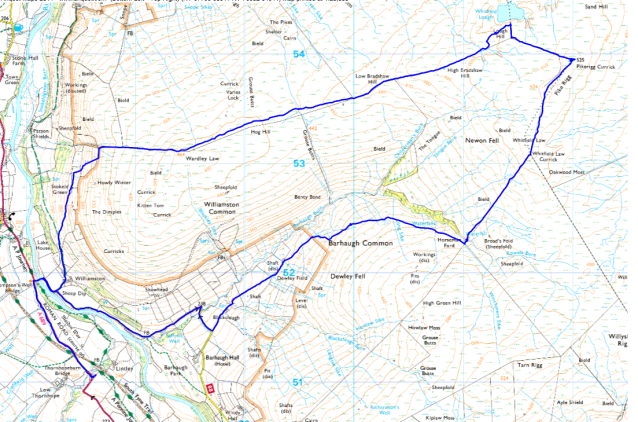 Whitfield Lough map
